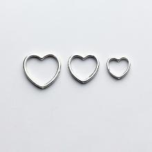 Charm bạc hình trái tim lồng hạt xỏ ngang 14mm