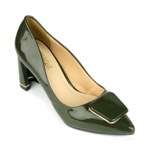 Giày cao gót êm chân Sunday CG41 xanh rêu