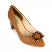 Giày cao gót êm chân Sunday CG42 nâu bò