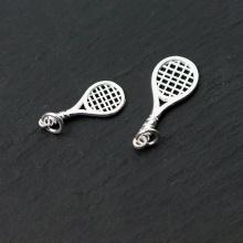 Charm bạc hình vợt tennis mặt treo