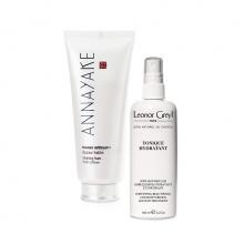 Combo sữa rửa mặt dành cho da khô Annayake và tonique tăng độ ẩm bảo vệ tóc Leonor greyl