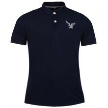 Áo thun nam có cổ polo dokafashion, áo logo thêu rất sắc xảo màu xanh đen