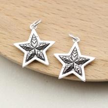 Charm bạc hình ngôi sao nhỏ pha lê treo