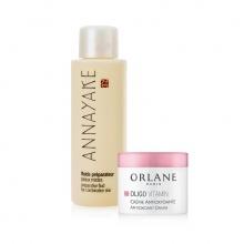 Nước dưỡng hoa hồng cho da hỗn hợp Annayake tặng kem dưỡng Mini Orlane Oligo