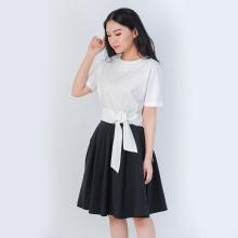 Áo croptop thời trang Eden thắt nơ eo màu trắng - ASM057