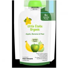 Thực phẩm ăn dặm hữu cơ táo, chuối và lê