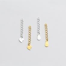 Charm bạc dây xích trang trí bạc hình giọt nước 5cm