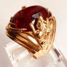 Nhẫn nam đá thạch anh mạ vàng 18k RM01058