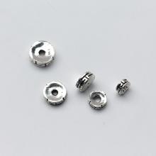 Charm bạc chặn hạt họa tiết kích thước 6mm