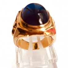 Nhẫn nam đá thạch anh mạ vàng 18k RM01062