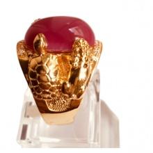 Nhẫn nam đá thạch anh mạ vàng 18k RM01063