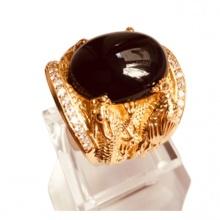 Nhẫn nam đá thạch anh mạ vàng 18k RM01064