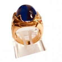 Nhẫn nam đá thạch anh mạ vàng 18k - RM01065