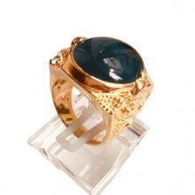 Nhẫn nam đá thạch anh mạ vàng 18k - RM01068