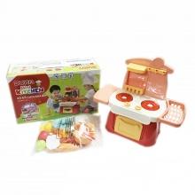 Bộ đồ chơi nhà bếp màu nâu kết hợp với ánh sáng và âm thanh