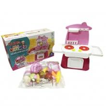 Bộ đồ chơi nhà bếp màu hồng kết hợp với ánh sáng và âm thanh