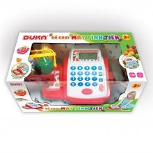 Bộ đồ chơi máy tính tiền màu đỏ, hiển thị màn hình, có đèn báo và âm thanh