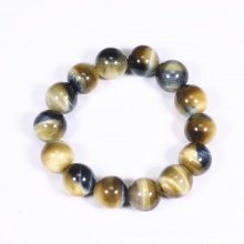 Vòng tay nam đá thạch anh mắt ưng AAA 14mm mệnh thủy, mộc - Ngọc Quý Gemstones
