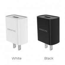 Cốc sạc Borofone BA20, BA-20 - 1 cổng USB 2.1A (US)