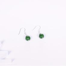Bông tai bạc đá ngọc bích mệnh hỏa, mộc - Ngọc Quý Gemstones