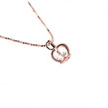 Mặt dây chuyền vàng hồng đính đá DOJI 14K 0819P-LAL073