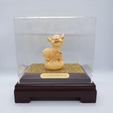 Trư vàng hoan hỉ - quà tặng mỹ nghệ Kim Bảo Phúc phủ vàng 24K DOJI