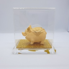 Kim trư hưng vượng - quà tặng mỹ nghệ Kim Bảo Phúc phủ vàng 24k DOJI