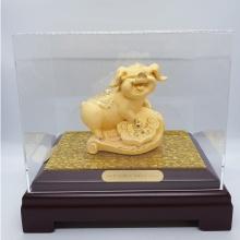 Heo vàng phúc lộc - quà tặng mỹ nghệ Kim Bảo Phúc phủ vàng 24K DOJI