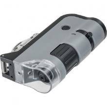 Kính hiển vi bỏ túi cao cấp Carson MicroFlip MP-250 (phóng đại 100x -250x) Led-UV kiểm tra tiền - hàng chính hãng