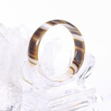 Vòng tay đá mã não vàng nâu bản hẹ ni 58 mệnh thổ, kim - Ngọc Qúy Gemstones