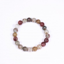 Vòng tay thạch anh ưu linh rêu đa sắc hạt đá 8mm - Ngọc Quý Gemstones