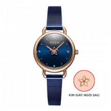 Đồng hồ nữ dây kim loại chính hãng Julius Hàn Quốc JA-1192C