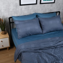 Bộ chăn drap cotton satin Hàn Quốc 5 món Modern Abstract 05 1m6x2m