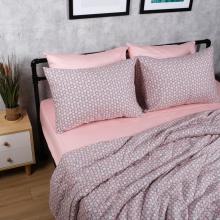 Bộ chăn drap cotton satin Hàn Quốc 5 món Pastel Blossom 03 1m6x2m
