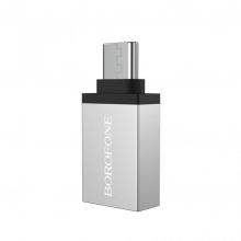Đầu cáp chuyển OTG Borofone BV3 USB-A sang type-C, USB 3.0