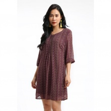 Đầm hoa văn Luna Llena LN166HJ45-RE
