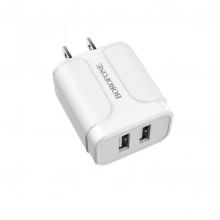 Cốc sạc nhanh Borofone BA37 2 cổng USB chuẩn US