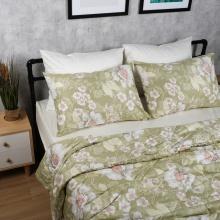 Bộ chăn drap cotton satin Hàn Quốc 5 món Elegant Floral 05 1m8x2m