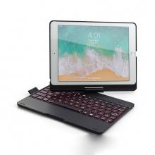 Bàn phím Bluetooth có đèn có thể gập xoay 360 độ cho iPad Air,iPad Air 2, iPad 9.7 Aturos F180 (màu đen)