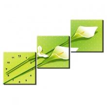 Tranh đồng hồ hoa loa kèn TDH92