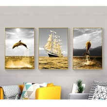Tranh ghép nghệ thuật vũ điệu biển cả THD01