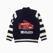 Áo len bé trai ô tô màu tím than (2-8 tuổi)