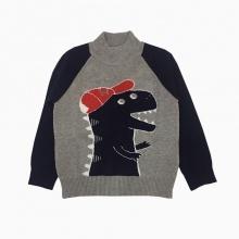 Áo len bé trai khủng long màu xám (2-8 tuổi)
