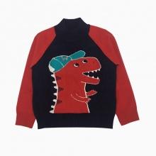 Áo len bé trai khủng long màu tím than (2-8 tuổi)