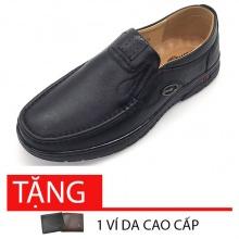 Giày lười nam da bò cao cấp T2691D Lucacy - tặng 1 ví da cao cấp