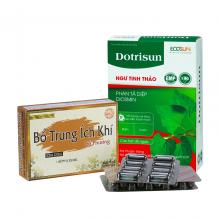 Bộ đôi viên uống Ditrisun và viên uống Bổ Trung Ích Khí - giúp tiêu trĩ nhuận, ngăn ngừa táo bón