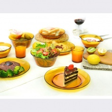 Bộ bàn ăn 12 món thủy tinh chịu lực Duralex Pháp Lys Amber