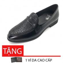 Giày tây nam loafer da bò cao cấp Lucacy LC235BT - tặng ví da cao cấp