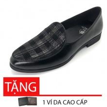 Giày tây nam loafer da bò cao cấp Lucacy LC235CR - tặng ví da cao cấp