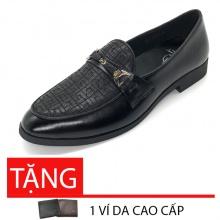 Giày tây nam loafer da bò cao cấp Lucacy LC235DS - tặng ví da cao cấp